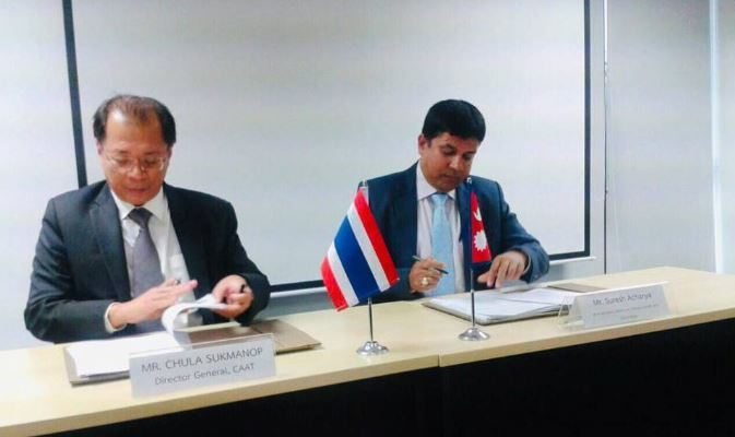 Nepal and Thailand signs historic air service agreement