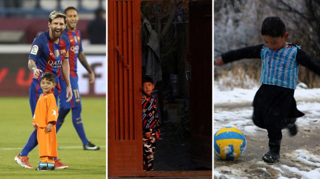 War forces out the Afghan boy famous for his Messi shirt