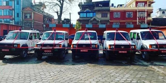 NC leader Lama donates five ambulances to local governments