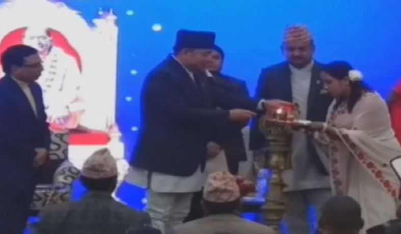 VP Pun inaugurates historic 'Radha Krishna' temple to be built by JKP Nepal