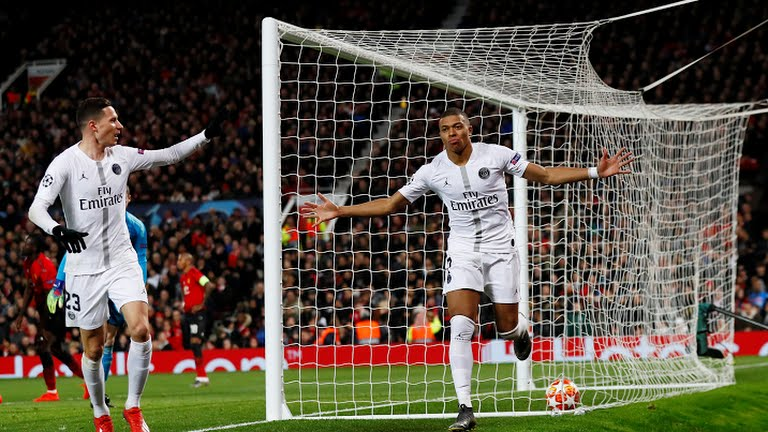 Champions League : PSG beat Man Utd 2-0 in Round of 16 first leg
