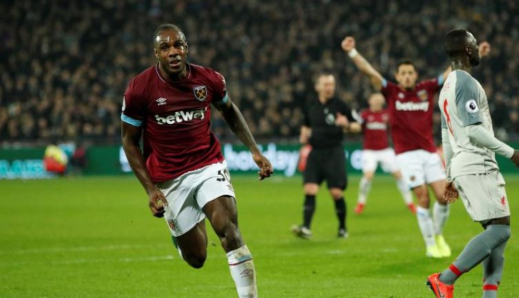 West Ham earn 1-1 draw with PL leader Liverpool