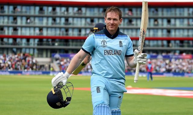 Eoin Morgan hits record 17 sixes to send England top of World Cup table