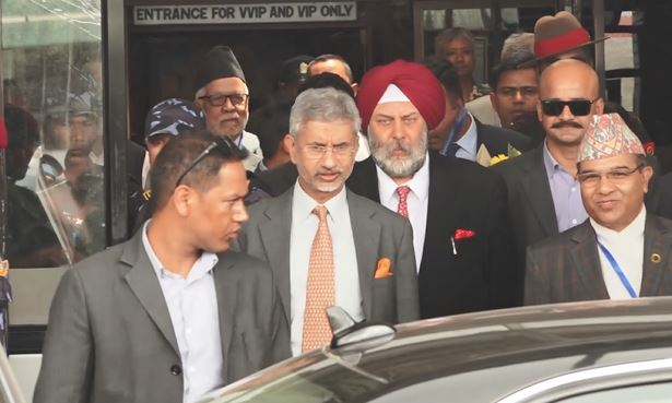 India's External Affairs Minister Jaishankar arrives in Nepal