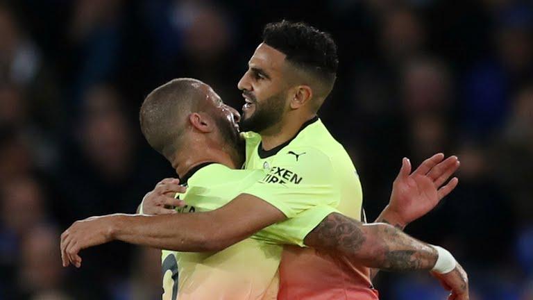 Mahrez and Sterling goals seal Man City win at Everton
