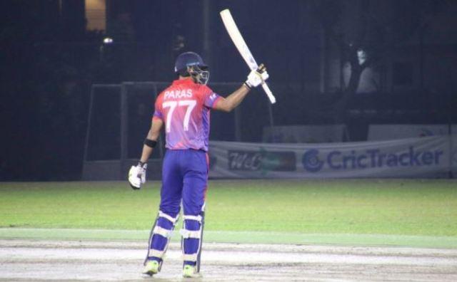 Captain Paras hits Nepal's first T20I century as Nepal beat Singapore