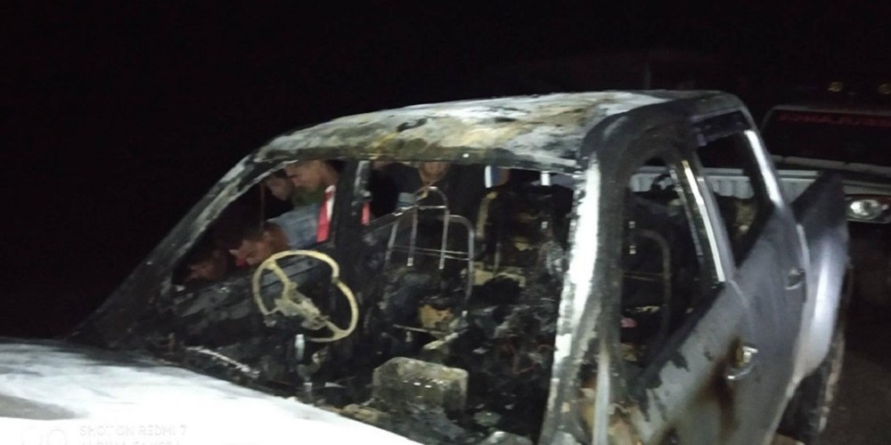 Rural municipality's jeep torched in Salyan