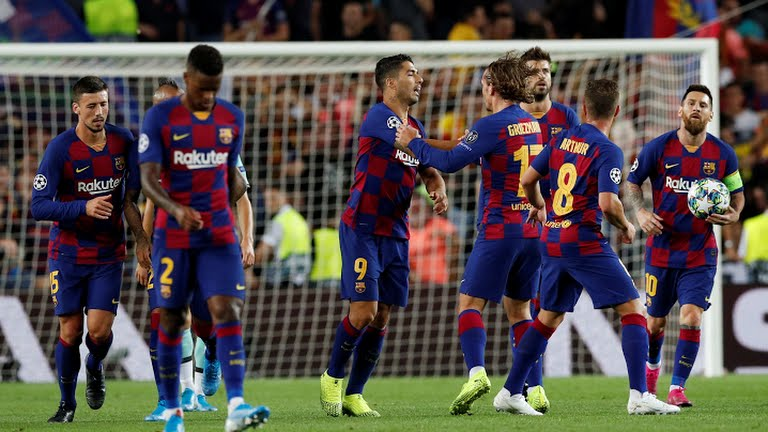 Champions League : Suarez double gives Barcelona win over Inter Milan
