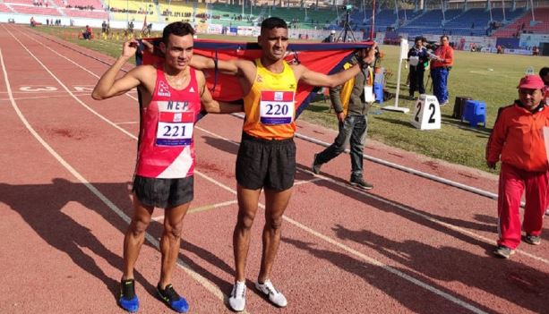 Parki wins gold for Nepal in 5,000-meter run