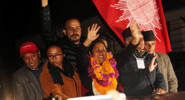 Newly elected HoR member Bhattarai taking oath of office and secrecy today