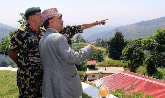 DPM Pokharel embarks on visit to Kalapani area