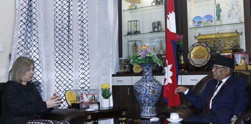 NCP Chair Prachanda and British Ambassador meet