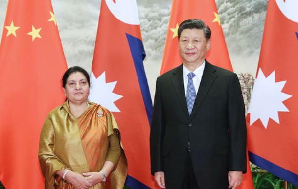 President Bhandari, Chinese President Xi hold telephone talks